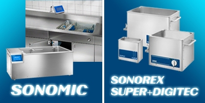 BANDELIN electronic - SONOMIC For cannulated MIS Instruments - SONOREX SUPER + DIGITEC Compact units