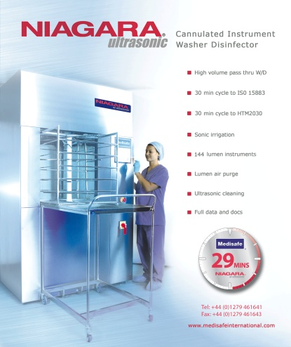 Medisafe - Niagara ultrasonic - Cannulated Instrument Washer Disinfector